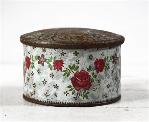 old little french tin box flowers shabby chic by ruedeslouves on etsy all that is vintage