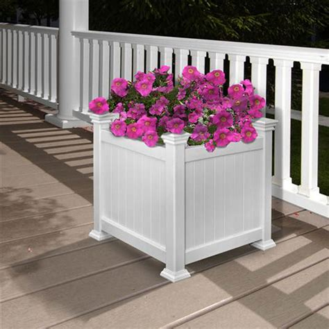 cardiff planter box white dimensions 15 w x 15 d x 15 3 4 h