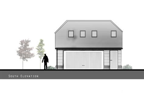 Garage With Accommodation by Zenith Architecture Two Bay Garage With Ancillary