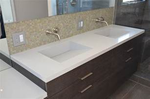 Quartz Vanity Countertop Quartz Integrated Sinks Modern Vanity Tops And Side