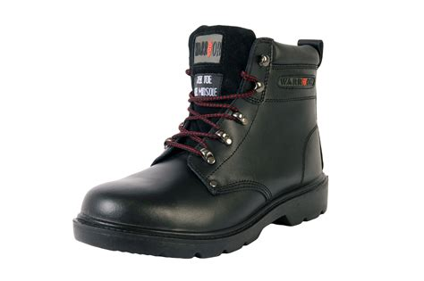 warrior black ankle boot safety footwear