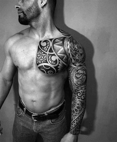 sick chest tattoos 70 sick tribal tattoos for cool masculine design