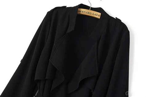 Blazer Coat Wanita Korea Classis Hitam coat hitam lengan panjang korea 2017 model terbaru