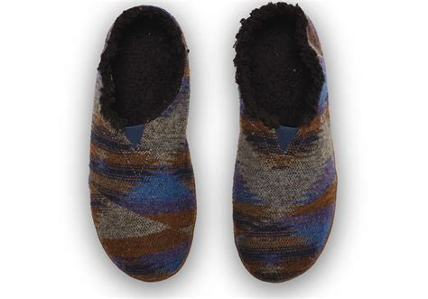 mens xl slippers lyst toms blue wool s slippers in blue for