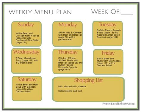 cooking light weekly menu how to do weekly meal prep with batch cooking menu ideas