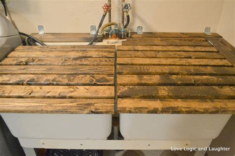 utility sink with countertop it laundry room makeover updated utility