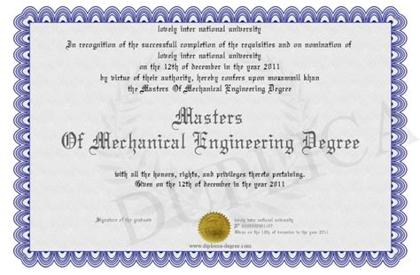 Masters Degree In Engineering | masters of mechanical engineering degree