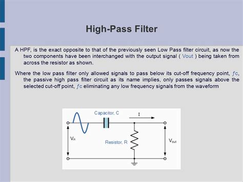 high pass filter nederlands low pass filter high pass filter ppt