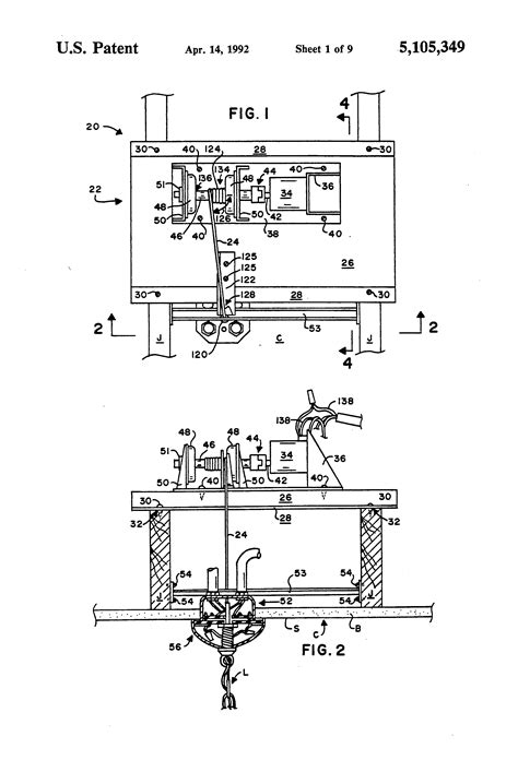 Motorized Chandelier Lift System Motorized Chandelier Lift System Patent Us5105349 Motorized Chandelier Lift System Patents