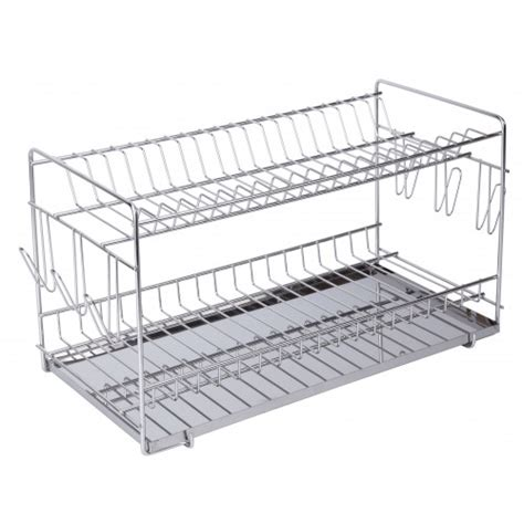 Superhuman Dish Rack by 18 8 Stainless Steel Dish Drainer 20 Dishes