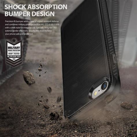 Iphone 8 8 Plus Casing Sarung Bumper Carbon Back Cover Elegan ringke onyx iphone 7 8 plus carbon bumper cover