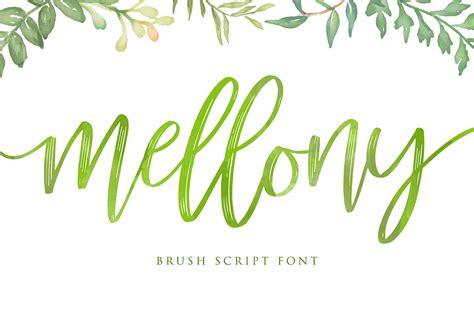 Brush Script mellony brush script font alit design