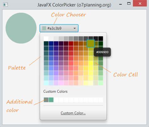 javafx color javafx colorpicker tutorial
