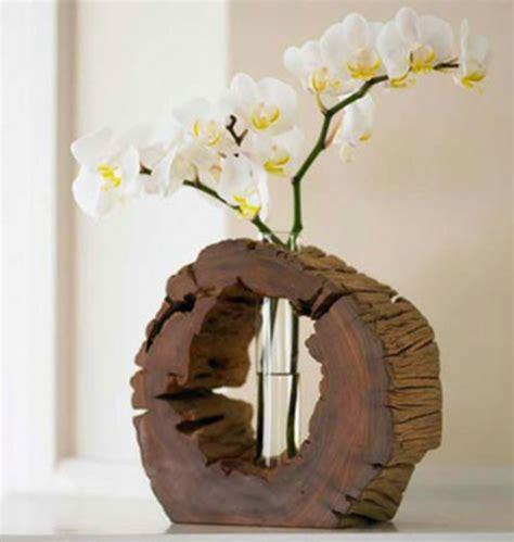 deko basteln ideen coole deko ideen 21 selbst gemachte baumstumpf vasen