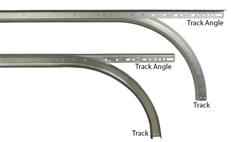 Garage Door Track Parts 2 Quot Horizontal Track W Angle For 9 High Doors 15 Quot Radius Pair Part Trh 20915