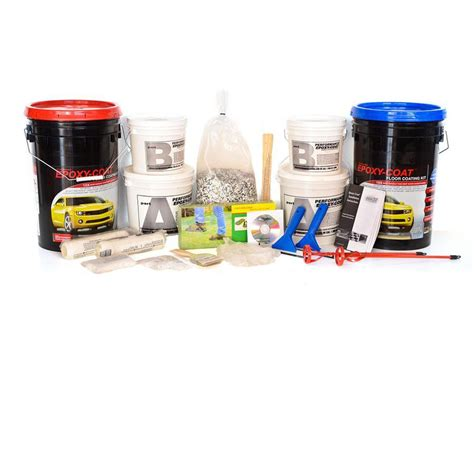 Garage Epoxy Kit Shop Epoxy Coat 2 Part Gray With Clear Coat High Gloss