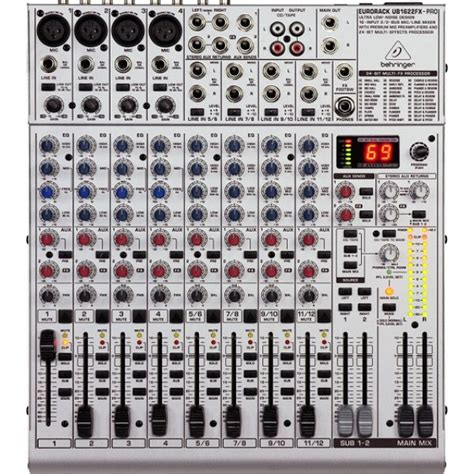 Mixer Audio Behringer 16 Chanel behringer eurorack ub1622fx pro audio mixer with fx