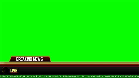 Breaking News Banner Lyapovvfx Youtube Breaking News Template