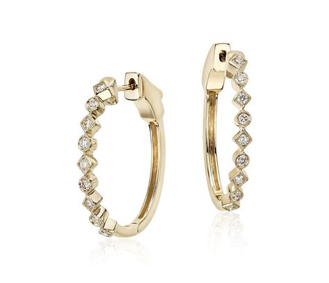 Geometric Hoop Earrings geometric hoop earrings in 14k yellow gold 1 2 ct