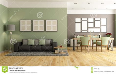 Living Room Steakhouse And Lounge Green And Brown Modern Lounge Stock Image Image 34520721