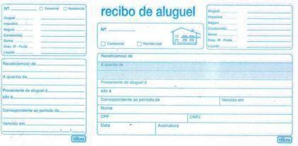 modelo de recibos de aluguel comercial e residencial recibos prontos para imprimir aluguel pagamentos de
