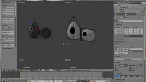 eye tutorial in blender how to make a flat cartoon eye track an empty in blender