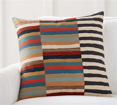 Crewel Pillow Covers by Carson Crewel Stripe Pillow Cover Pottery Barn