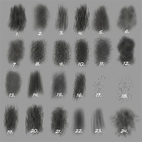 photoshop brushes custom photoshop brushes set 5 directional fur brushes