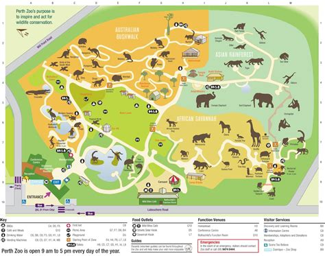 Zoologischer Garten Map by Perth Zoo Map Map Of Perth Zoo Australia