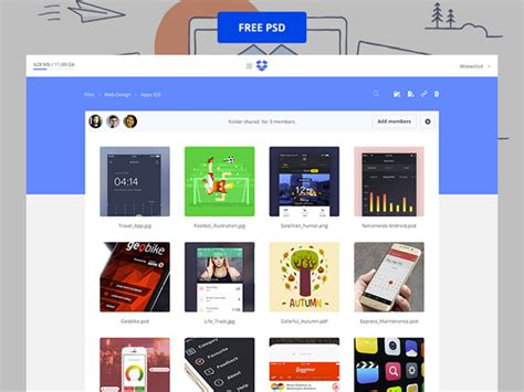 dropbox redesign dropbox redesign psd template welovesolo