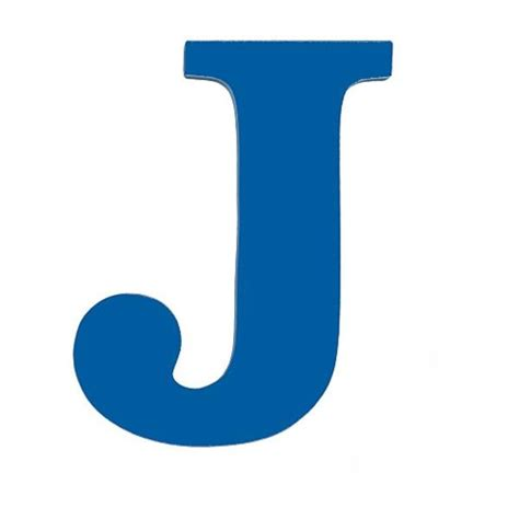 blue j solid blue j letter j