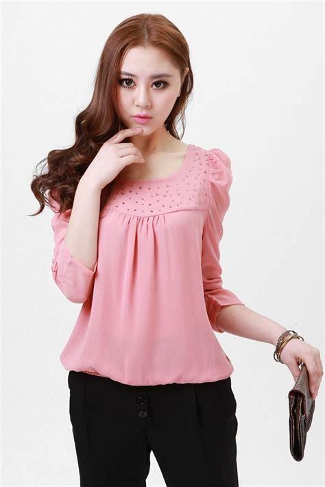 s pink blouse lovely shirt korea princess