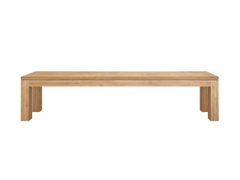 oak wood bench oak straight bench by ethnicraft