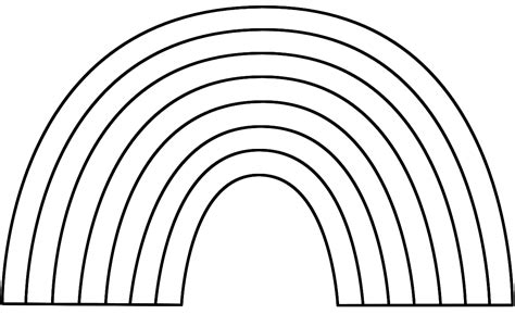 4 Part Rainbow Outline - ClipArt Best Rainbow Clipart Outline