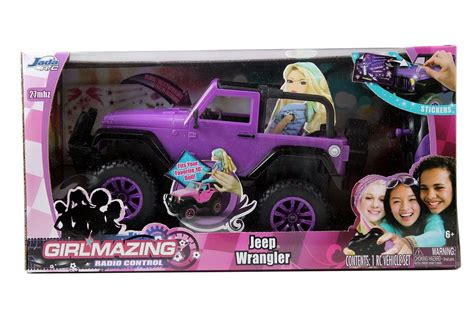 purple barbie jeep rc vehicle remote control toy big foot jeep teen