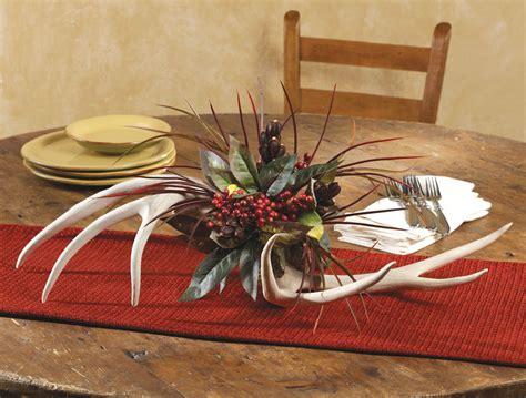 antler floral centerpiece