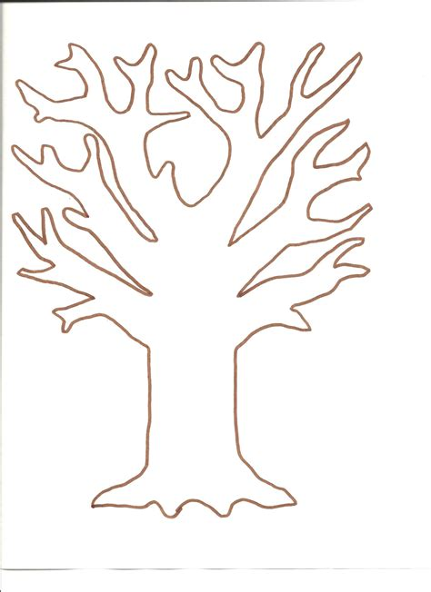 template of tree 8 best images of large printable tree pattern printable