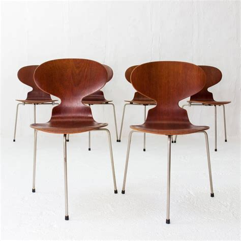chaise ant teak ant chairs 3100 arne jacobsen for fritz hansen early 1960s at 1stdibs