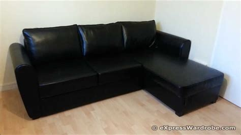 leather sofa bed argos argos siena corner leather effect sofa bed with storage