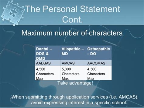 Dental Personal Statement Character Limit by Personal Statement 5300 Characters