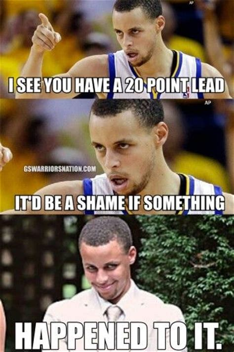 Stephen Curry Memes - credit warriors nation on facebook sports humor