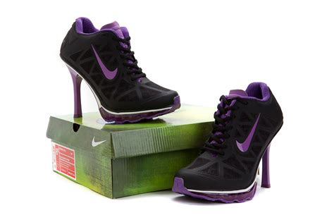 womens nike air max 95 high heel shoes black purple nike