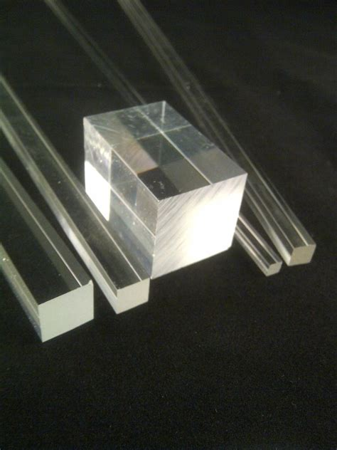 Acrylic Rod square clear acrylic rod solid perspex bar rod 3mm to 40mm