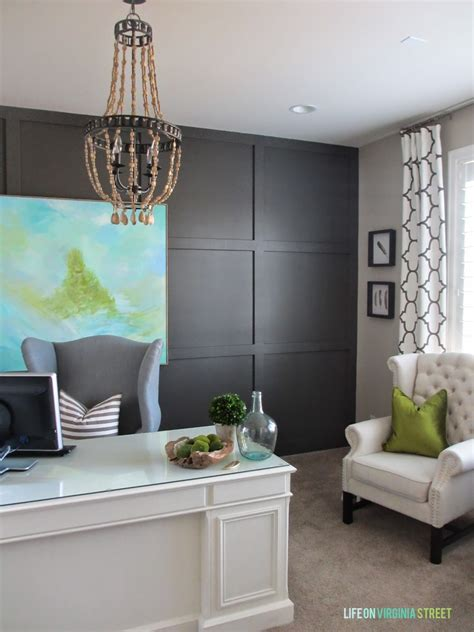 Office Chandeliers Remodelaholic Home Office Makeover With Diy Wood Bead