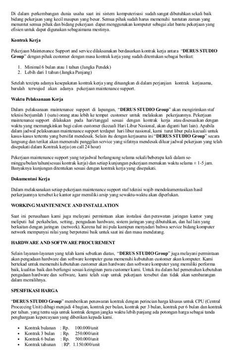 Contoh Surat Penawaran Penjualan Komputer by Contoh Hardware Komputer Adalah Contoh Sr