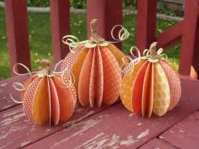 Pumpkin Paper Craft - splendid design fall inspired crafts