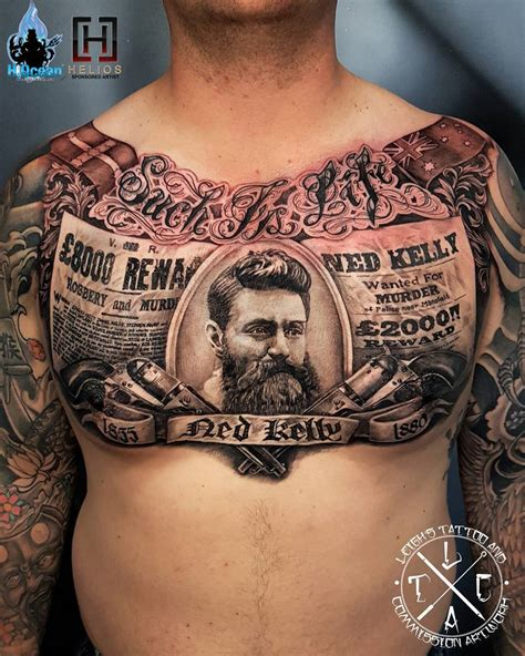 ned kelly such is life chest tattoo best tattoo design
