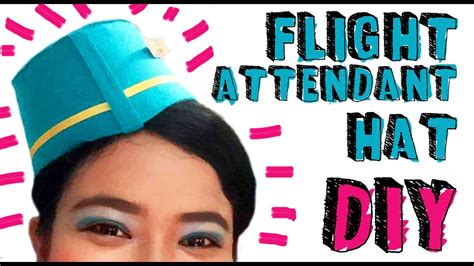 How To Make An Air Hostess Hat Out Of Paper - flight attendant hat diy