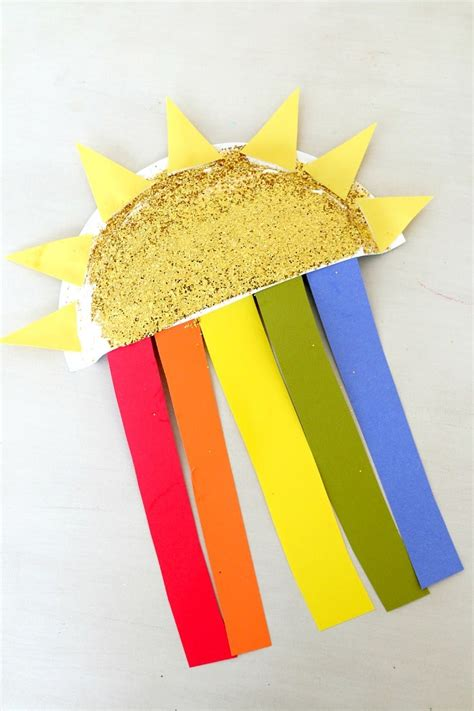 Paper And Craft - sun and rainbow paper plate craft