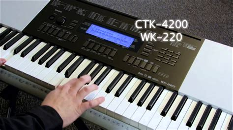 Keyboard Casio Wk 220 Baru casio ctk4200 and wk220 keyboard casio select workshop